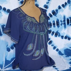 Mushka By Sienna Rose Embroidered Blouse Size M